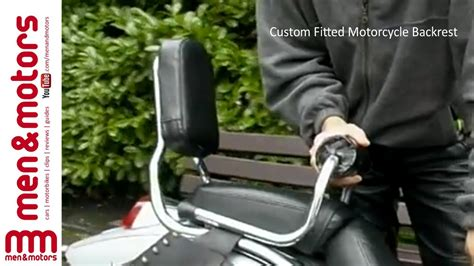 Custom Fitted Motorcycle Backrest