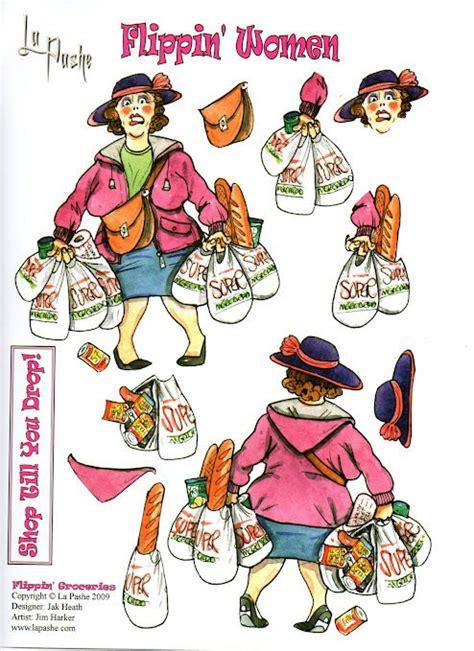 shopping woman la pashe flippin pinterest decoupage