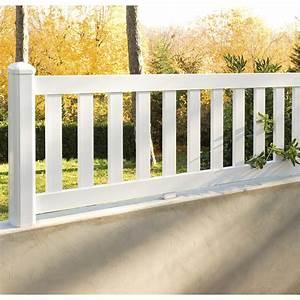 Barrière Bois Castorama : cl ture pvc triton blanc x cm leroy merlin ~ Premium-room.com Idées de Décoration
