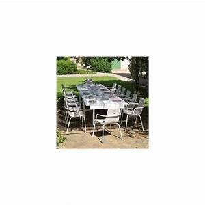Salon De Jardin Acier : salon de jardin 4 places 1 table extensible en acier 4 ~ Dailycaller-alerts.com Idées de Décoration