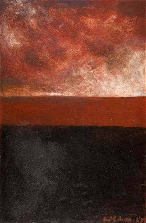 red  black landscape  colin mccahon  zealand fine