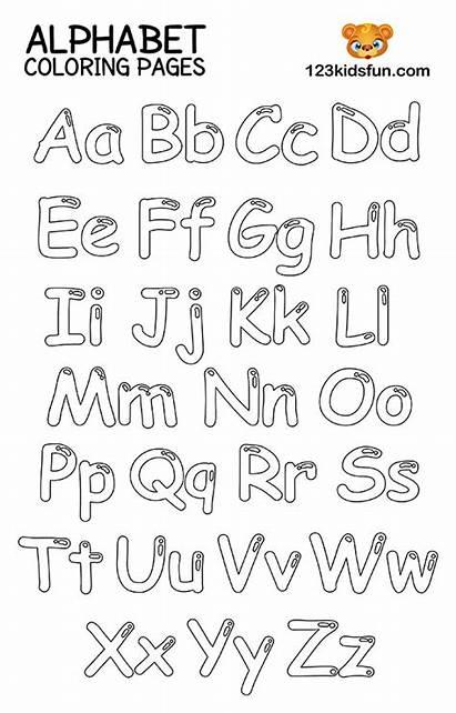 Alphabet Coloring Printable Letters Preschool Toddlers Kindergarten