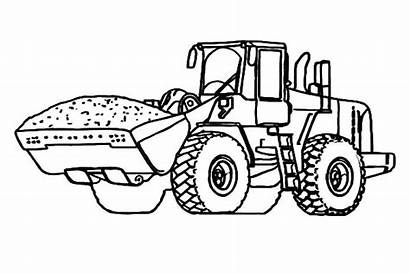 Coloring Pages Tractor Excavator Material Handling Printable