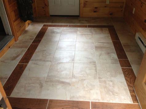 mud room floor wood tile border   home flooring