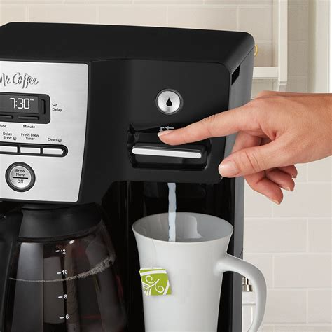 The filter basket can be easily pulled out and washed for quick and mr. Mr. Coffee BVMC-DMX85-RB Versatile Brew 12-Cup Programmable Coffee Maker - VIP Outlet