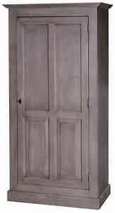 Armoire A Etagere : armoire 1 porte l 97 cm en pin massif bretagne comparer les prix de armoire 1 porte l 97 cm en ~ Teatrodelosmanantiales.com Idées de Décoration