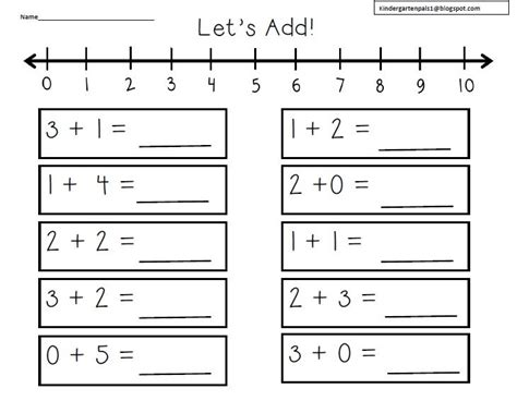 number line worksheets kindergarten free 1 number line