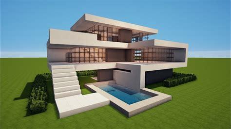 minecraft   build  modern house  house tutorial youtube