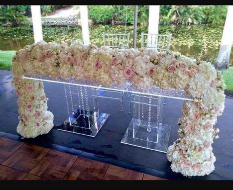 buy  custom  acrylic bridal table clear slab top