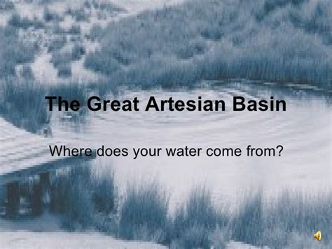 great artesian basin