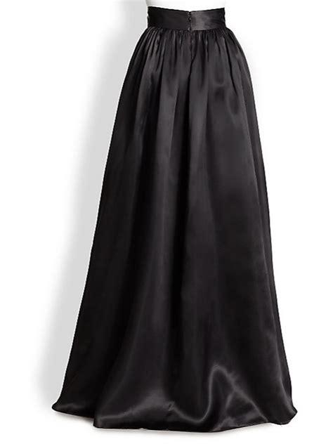 satin maxi asymmetrical skirt  colors elizabeths