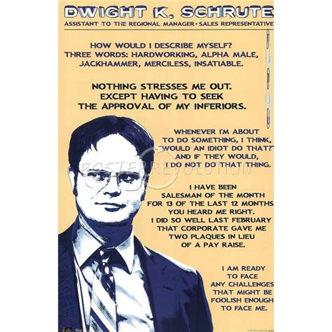 Dwight Schrute Resume Quote by 17 Best Images About Collections The Office On L Wren Offices And Kevin O Leary