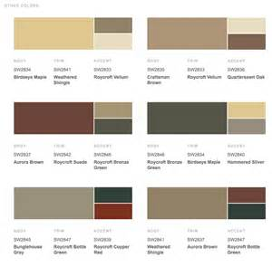 sherwin william exterior paint color combinations