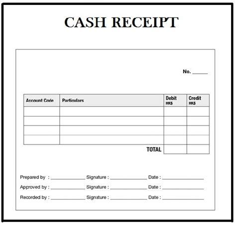 cash receipt template word  contacerta