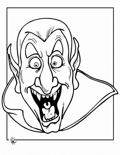 Scary Coloring Pages Vampire