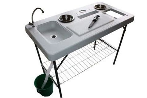 fish cleaning table with sink bass pro portable c fish cleaning table with faucet deluxe