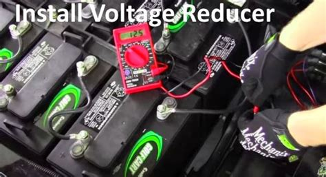 48 Volt Wiring Diagram Reducer by How To Install 36 Or 48 Volt Voltage Reducer For Lights Or