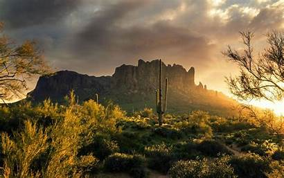 Arizona Superstition Mountains Nature Wallpapers Desktop Usa