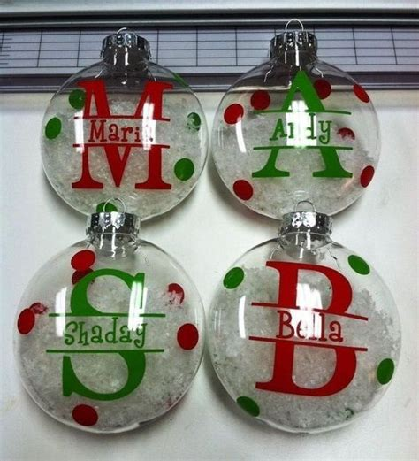 christmas ornaments with vinyl christmas cookie exchange