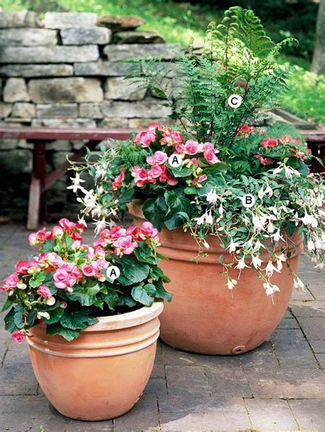 shade flowers for pots container garden recipes for shade