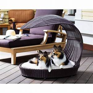 12 beautiful dog beds that will instantly enhance your for Outside dog furniture