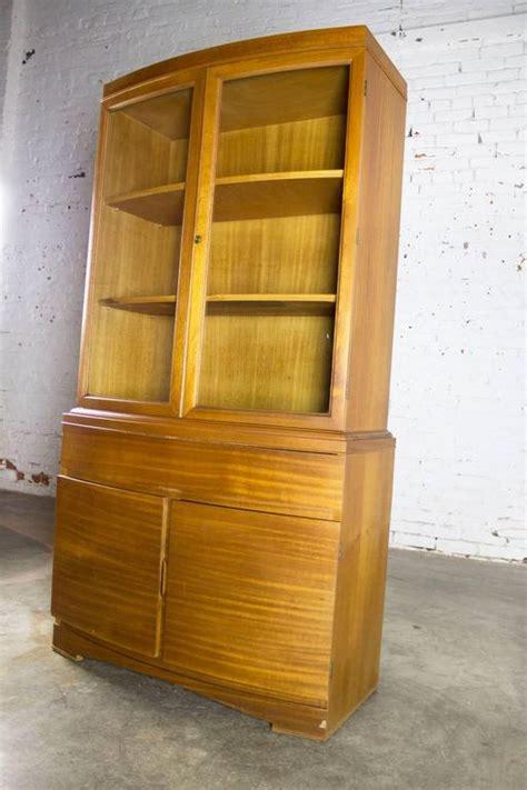 Small China Cabinet For Sale - vintage mid century modern mahogany small china hutch