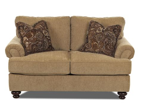 Traditional Sofas And Loveseats by Traditional Loveseat With Rolled Arms By Klaussner Wolf