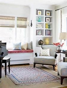 Ideen Fürs Wohnzimmer : 43 ideen f r behagliche sitzecke auf der fensterbank deko wohnzimmer einrichtung und sitzecke ~ Buech-reservation.com Haus und Dekorationen