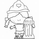 Firefighter Hydrant Coloring Fire Pages Fireman Firemen sketch template
