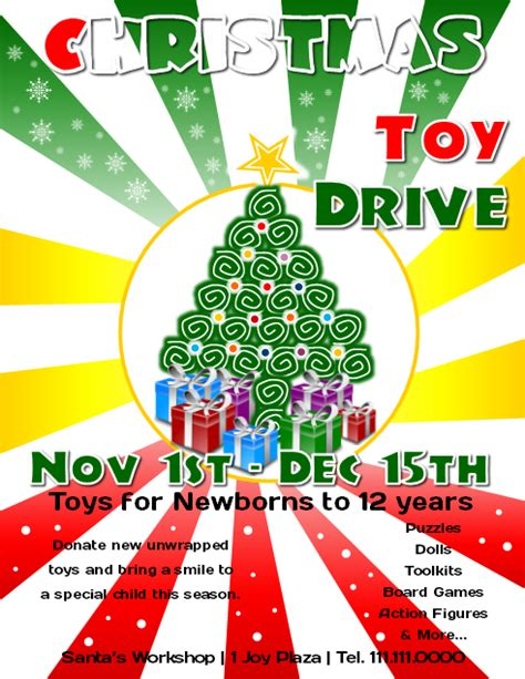 Toy Drive Flyer Template Word by Microsoft Publisher Tutorial How To Make A Christmas Toy