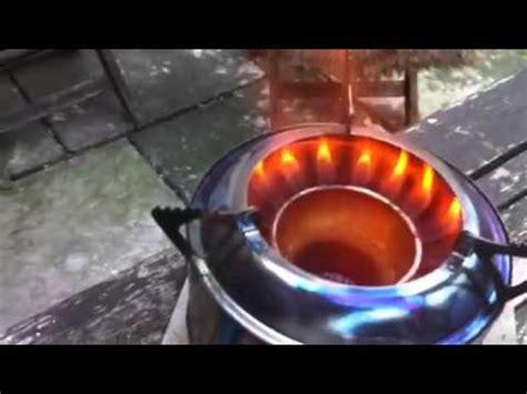 wood gas stove  white box meths stove youtube