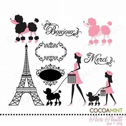Paris Clip Poodle French Moldes Party Poodles