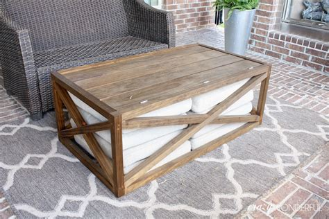 patio coffee table with storage 10 smart diy outdoor storage ideas