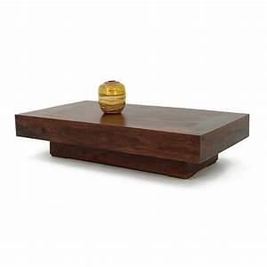 Table Basse Bois Exotique : table basse rectangulaire en bois de palissandre jorg 05299 ~ Dode.kayakingforconservation.com Idées de Décoration