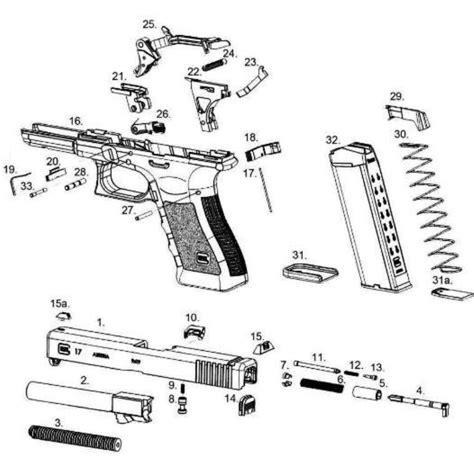 Glock 19 Part Diagram by Glock Nomenclature Specs Parts List A Firearms