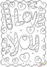 Coloring Printable Doodle Mom Cards Valentine Word Valentines Dibujos Supercoloring Words Template Para Colorear Imprimir Printables San Drawing Del Templates sketch template