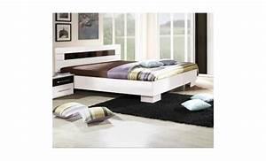 Lit 180x200 Pas Cher : chambre coucher compl te dublin adulte design blanche ~ Melissatoandfro.com Idées de Décoration