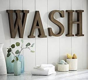 wash wall art pottery barn With pottery barn wall letters