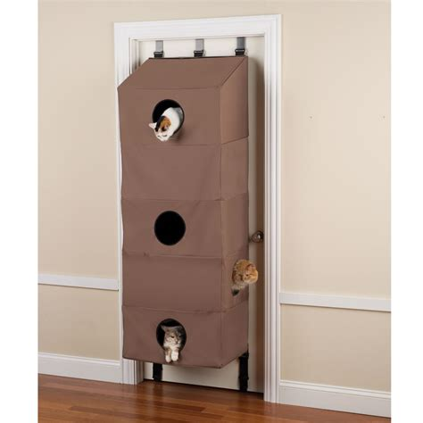 The Over The Door Cat Condo  Hammacher Schlemmer. Bathtubs With Doors. Rubber Garage Floor Mat. Screen Porch Doors. French Door Styles. Prefabricated Garage Kits. French Doors For Closet. Replacing Interior Doors. Prebuilt Garages
