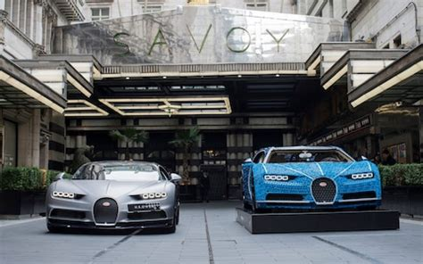 2019 bugatti chiron lego manor car seen from outside and inside. Watch: full-size Bugatti Chiron made of Lego causes a stir