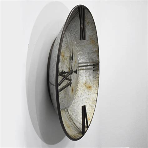 rustic farmhouse plate shape galvanized wall clock buy clock galvanized clock galvanized