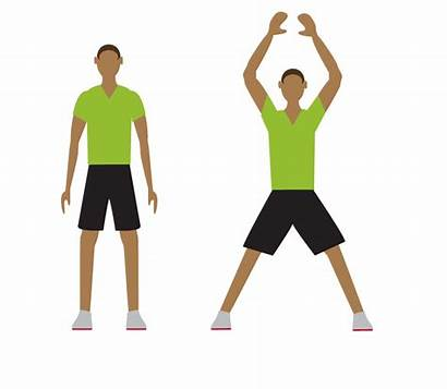 Exercise Jumping Transparent Workout Clipart Jack Minute