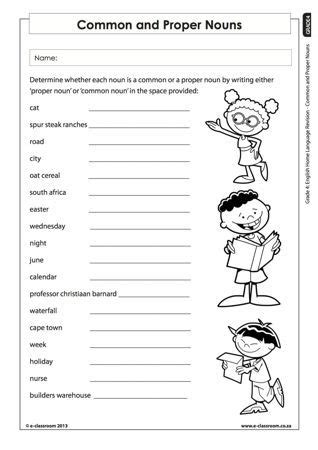 common and proper nouns worksheets for grade 1 google search projects to try proper nouns