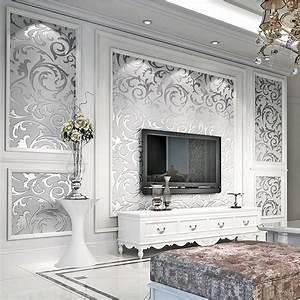 Schablone Wand Barock : luxus 3d optik vlies wand tapete vliestapete barock rolle wandtapete silber 10m eur 17 42 ~ Bigdaddyawards.com Haus und Dekorationen