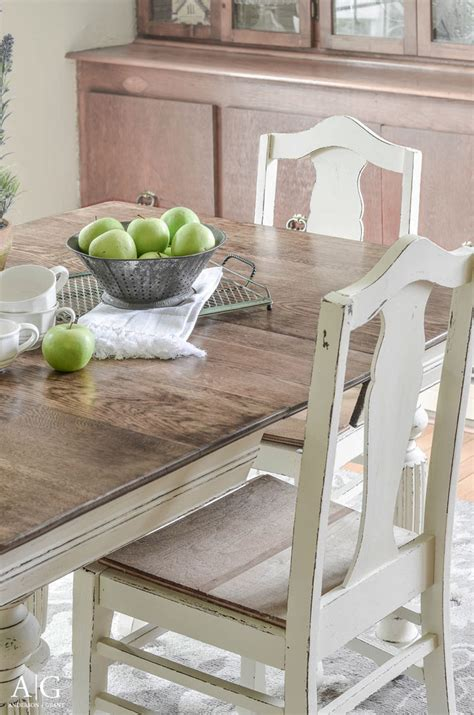 chalk paint table and chairs kitchen table and chairs diy fresh anderson grant antique