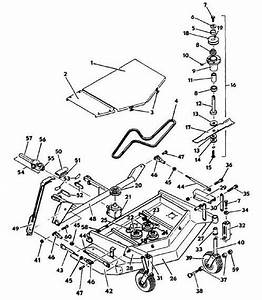 6144 Deck Model 1986 Year Mower Assembly Parts  U0026 Diagram