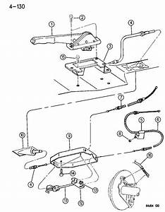 1994 Jeep Grand Cherokee Lever Assembly  U0026 Cables Parking Brake