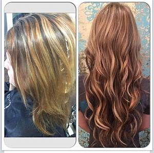 Before and after. I installed 18 inch blonde, tape in ...