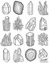 Coloring Drawing Gem Printable Crystal Pages Printables Colouring Drawings Cactus sketch template