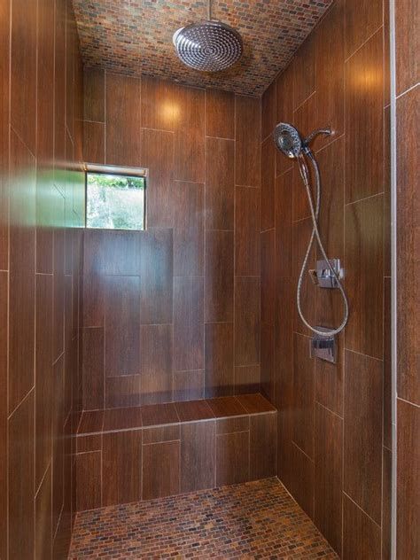 ceramic tile   wood shower bathroom cool